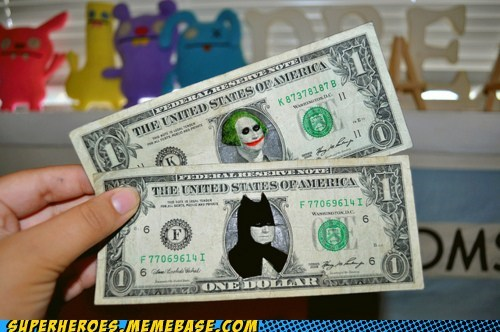 art,batman,cosplay,dollar bill,george washington,joker