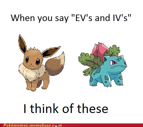 eevee,EV,IV,ivysaur,training