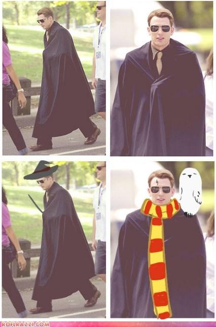 actor captain america celeb chris evans funny Harry Potter shoop - 6576414720
