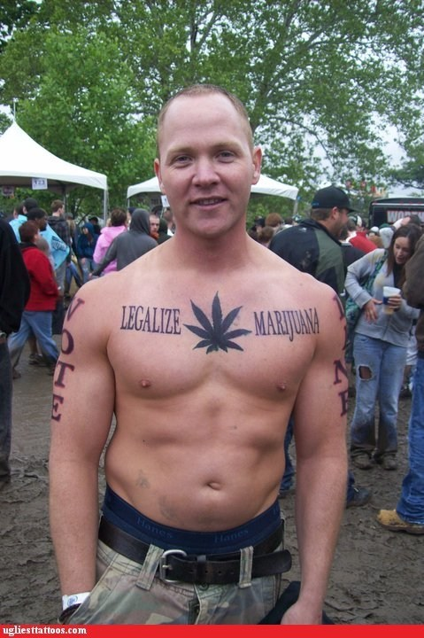 chest tattoos,legalize marijuana