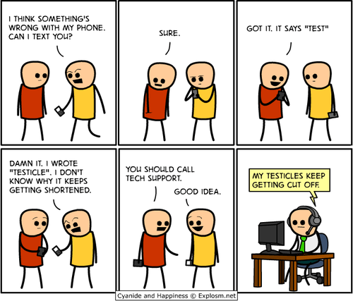autocorrected cyanide and happiness shortened