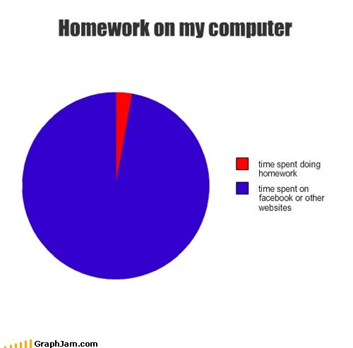 facebook,homework,Pie Chart,research,school