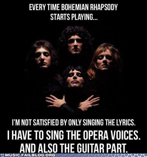 bohemian rhapsody,queen,singing