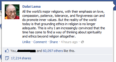 Dalai Lama,peace,posted without comment,wise words,world religion