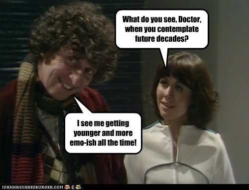 doctor who Elisabeth Sladen emo sarah jane smith the doctor tom baker younger - 6576845312