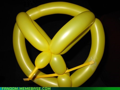 balloon art,Balloons,hunger games