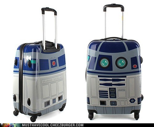 hard case,luggage,Movie,r2d2,star wars,suitcase,wheels