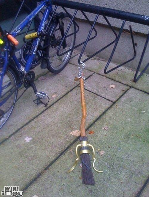 best of week bike rack broom Hall of Fame Harry Potter parking