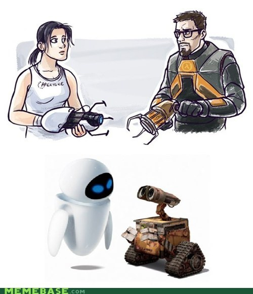 cute,disney,dress,movies even,pixar,valve,video games,wall.e