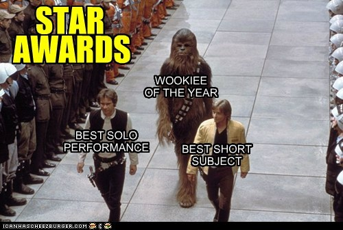 Awards chewbacca Han Solo Harrison Ford luke skywalker Mark Hamill star wars wookie - 6577441280