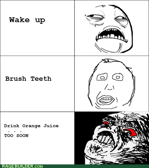 orange juice raisin rage toothpaste