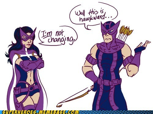 avengers,Awkward,hawkeye,huntress