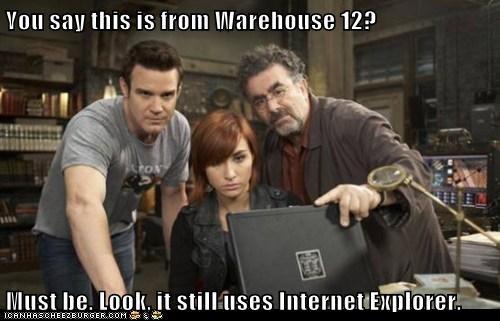 warehouse 13 pete latimer eddie mcclintock claudia donovan allison scagliotti old artifact - 6577788160