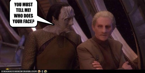 Deep Space Nine face haircut kardassian odo Star Trek - 6577843712