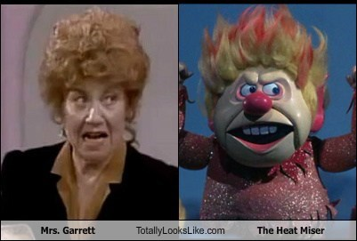 Mrs. Garrett Totally Looks Like The Heat Miser