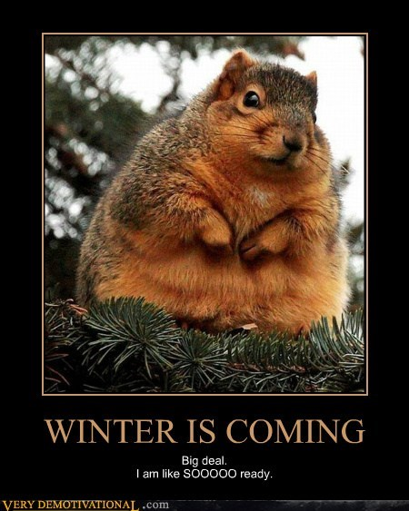 WINTER IS COMING Big deal. I am like SOOOOO ready.
