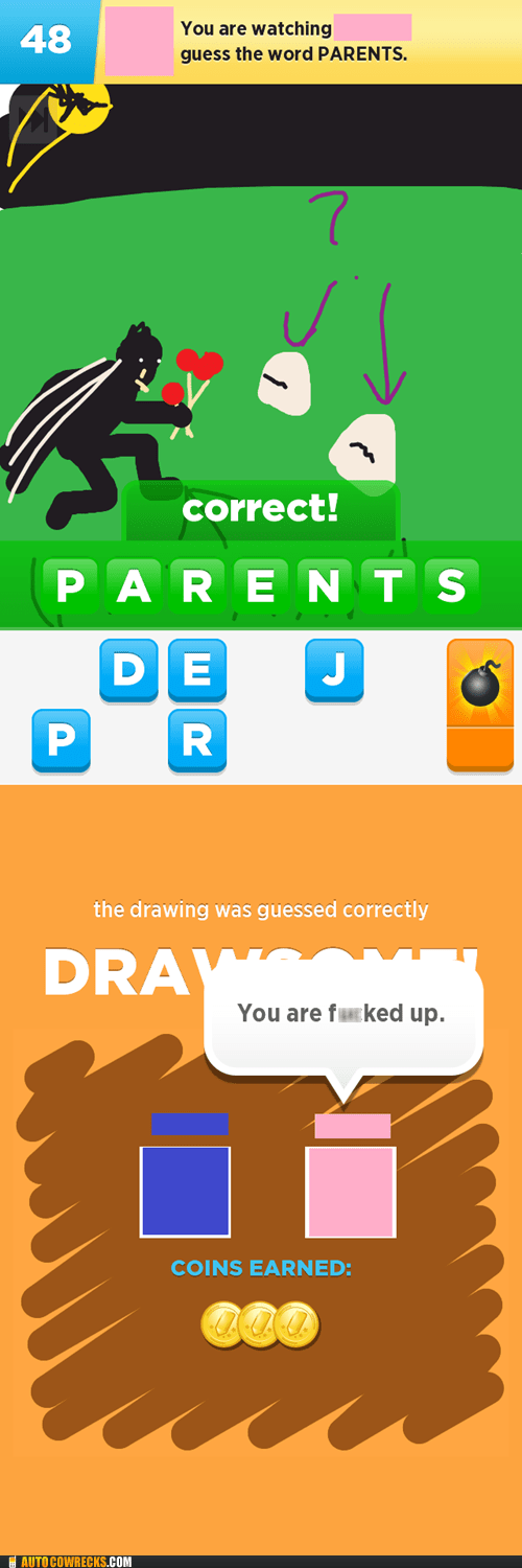 batman,draw something,messed up,parents