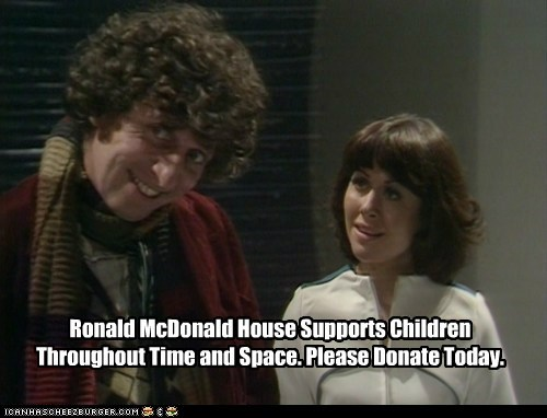 Ronald McDonald House Supports Children Throughout Time and Space. Please Donate Today.