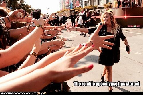 The zombie apocalypse has started