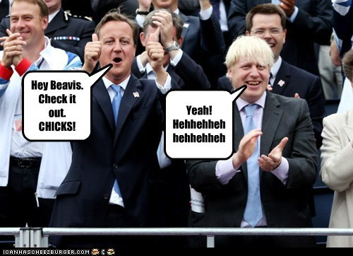beavis and butt-head boris johnson check it out chicks david cameron