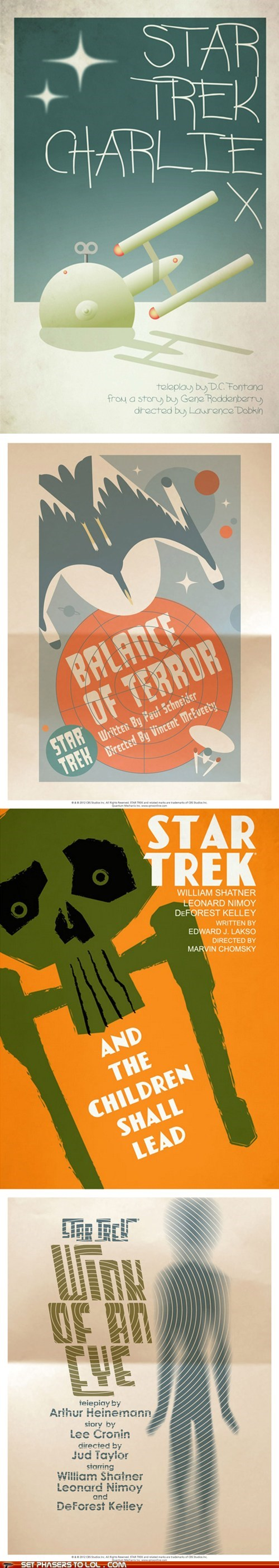 art charlie x DeForest Kelley episodes Leonard Nimoy posters retro Star Trek William Shatner - 6578210816