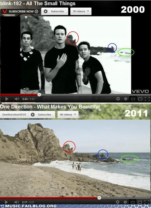 blink 182,one direction,youtube