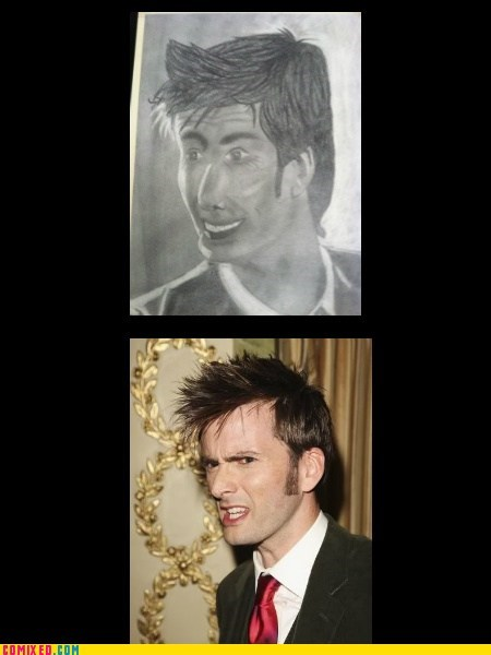 David Tennant doctor who drawing Nailed It - 6578533632