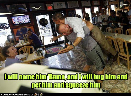 barack obama hug lift pet president squeeze