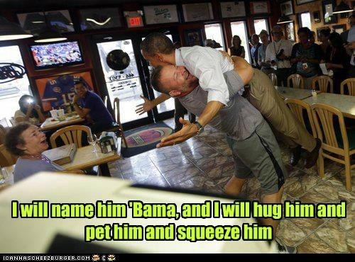 barack obama hug pet president - 6578640128