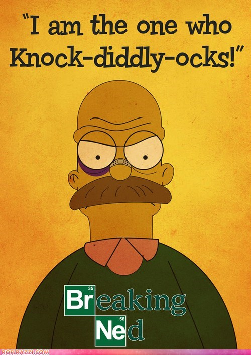 amc,animation,breaking bad,fox,funny,ned flanders,the simpsons,TV