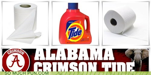 Alabama,college,college football,color,Crimson Tide,double meaning,football,laundry detergent,literalism,name,ncaa