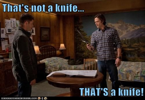 crocodile dundee dean winchester Jared Padalecki jensen ackles knife sam winchester - 6578694144