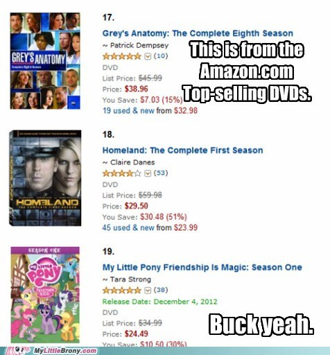 amazon,bronies are the besterest,buck yeah,DVD,season one,top selling