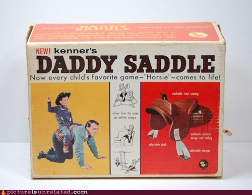 children daddy saddle toy