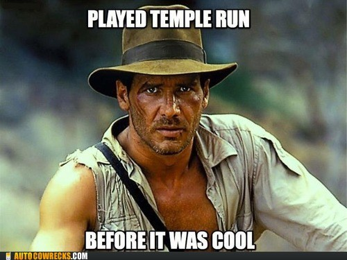 hipster indiana jones Indiana Jones temple run - 6578763008