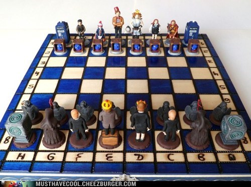 chess doctor who game geeky handmade TV - 6578779904