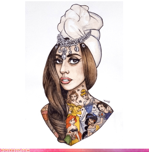 art celeb disney illustration lady gaga Music pop - 6578781696
