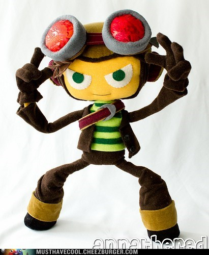 character Plush posable psychonauts raz video game