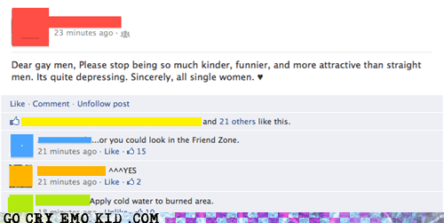 facebook friendzone gay