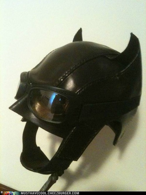 batman costume handmade hat leather