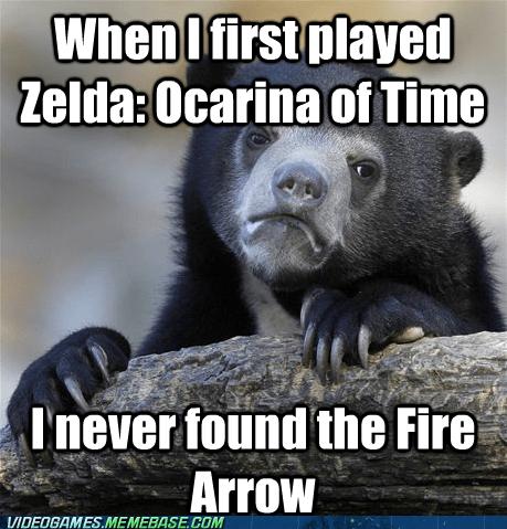 Confession Bear fire arrow meme zelda - 6578841856