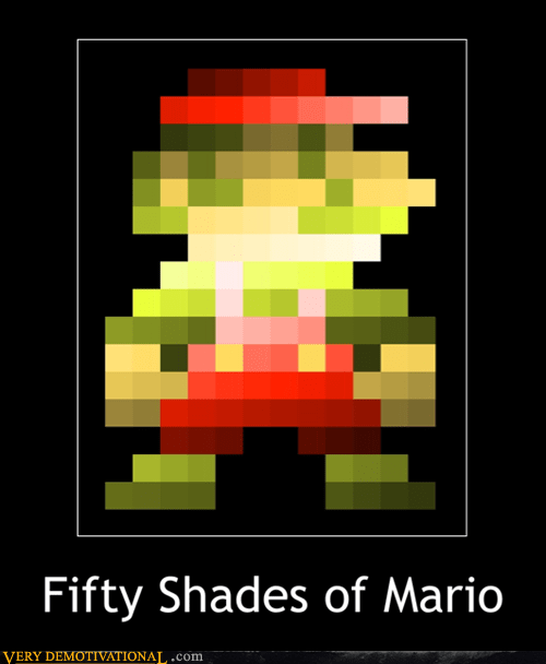 fifty shades of grey mario pixel art - 6578848256