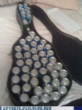 alcohol beer clever guitar case hidden beer - 6578851072