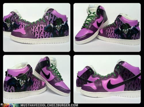 batman custom hand painted joker shoes - 6578882304