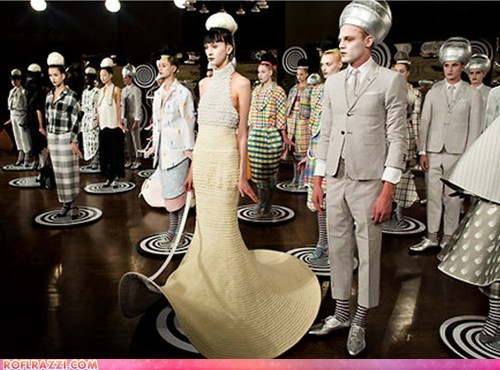 Aliens,fashion,fashion show,hats,if style could kill,style,white face