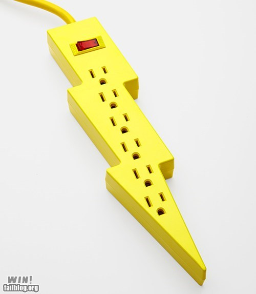 cute,design,lightning bolt,power strip