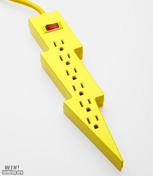 cute design lightning bolt power strip - 6578984960