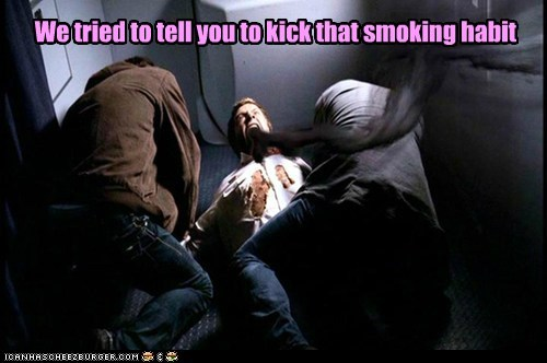 smoking habbit Supernatural sam winchester dean winchester airplane demon possession Jared Padalecki jensen ackles sci fi - 6579103744