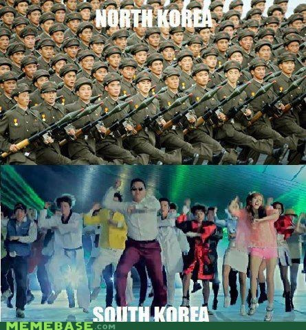 dancer,gangnam style,human,North Korea,small differences,south korea
