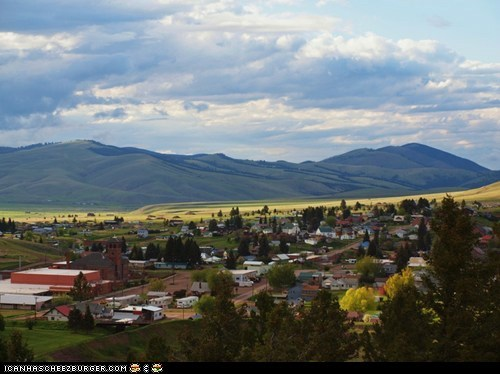 Almost the same view of Butte Montana on a good day!